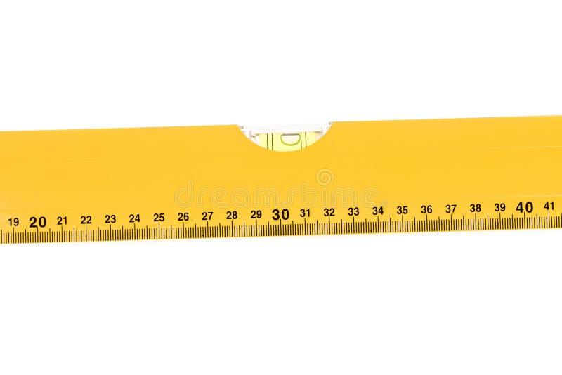 Mètre jaune de niveau de bloc avec la bulle photo libre de droits