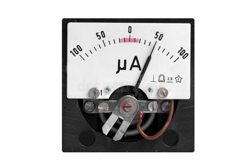 Mètre micro analogique d'ampère photographie stock libre de droits