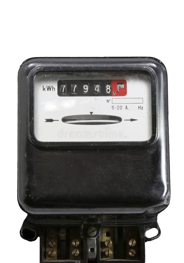 Mètre pour mesurer le courant électrique photos stock
