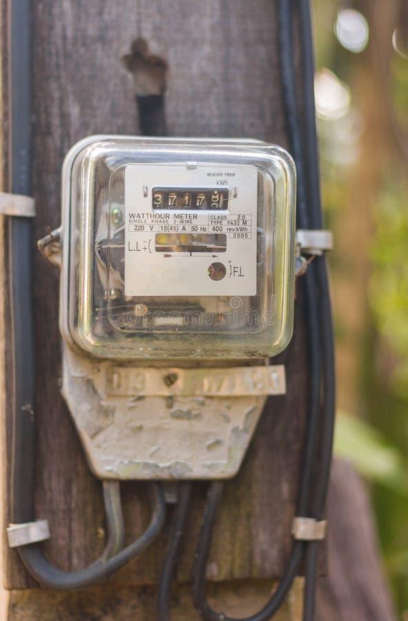 Mètres électriques de watt-heure photographie stock