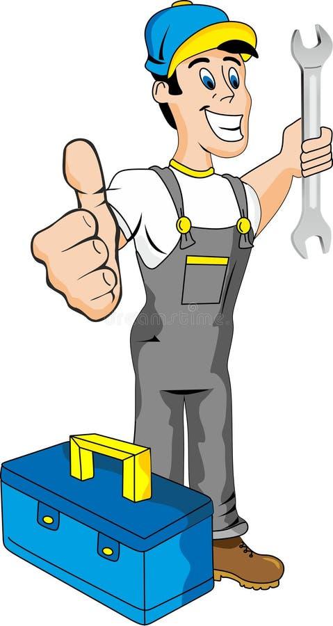 Mécanicien illustration de vecteur