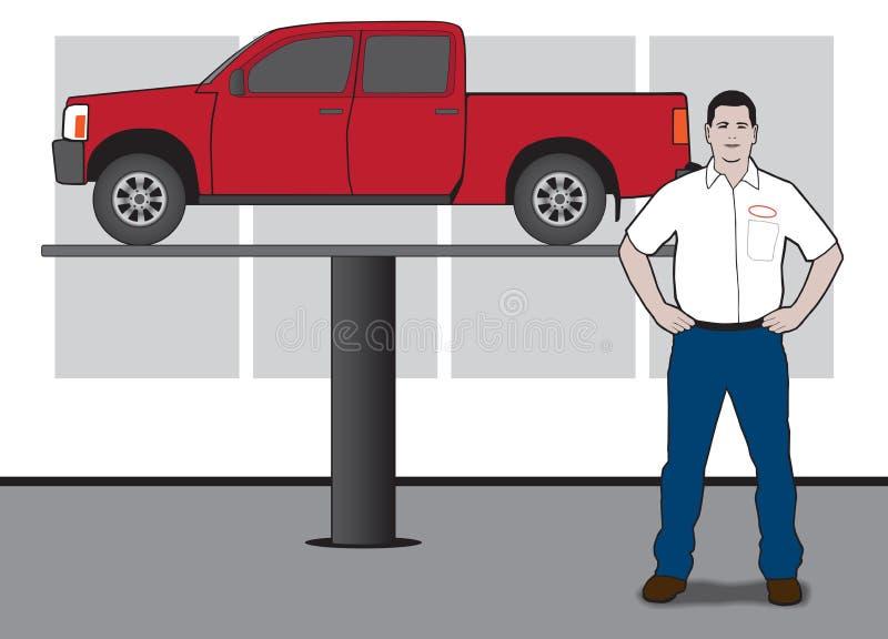 Technicien automatique illustration de vecteur