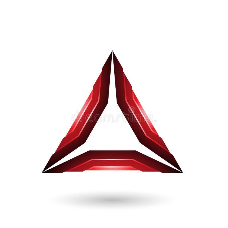 Mécanicien brillant rouge Triangle Vector Illustration image libre de droits