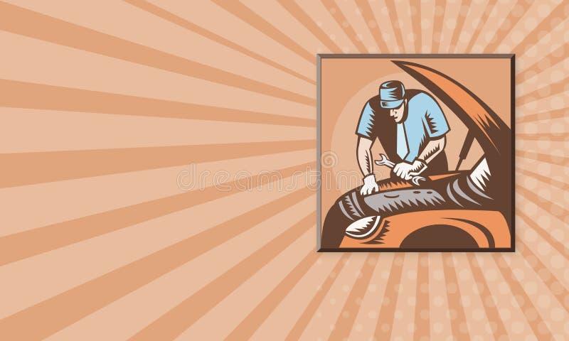 Mécanicien d'automobile Car Repair illustration libre de droits