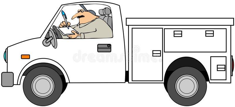 Mécanicien dans le camion illustration libre de droits
