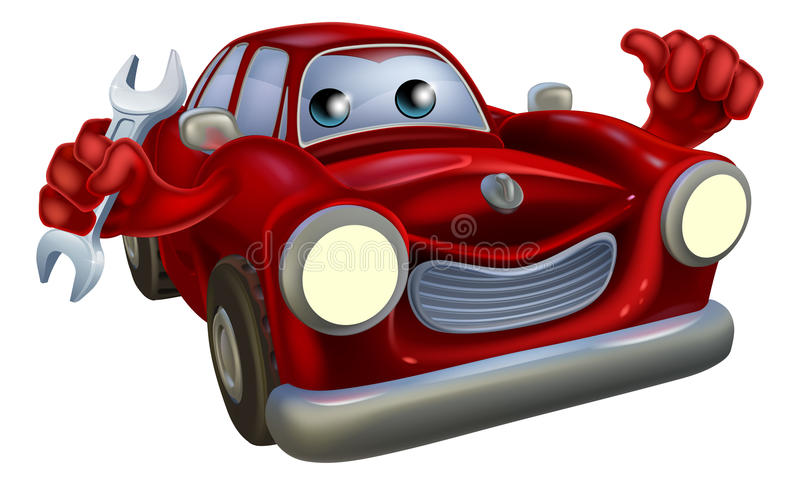 Download Mécanicien de véhicule illustration de vecteur. Illustration du mécanicien - 45370823