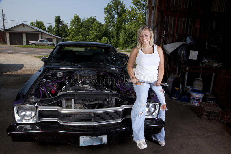 Mécanicien féminin photo stock