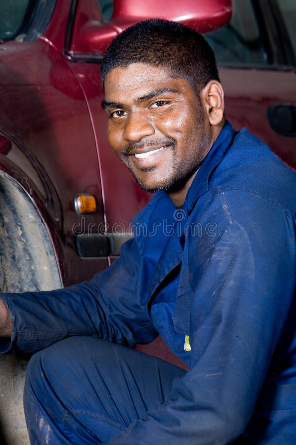 Mécanicien heureux photos stock