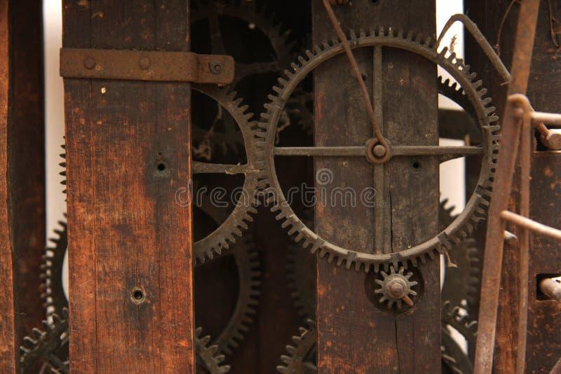 Mécanique d'horloge de cru photos stock