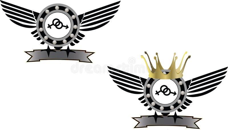 Mécanique de symbole d'autocollant illustration libre de droits
