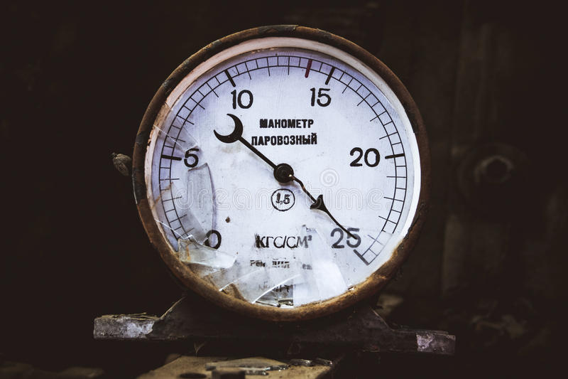 Mécanisme de mesure pour la locomotive de mesure photo stock