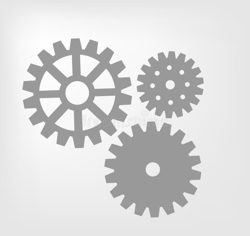 Mécanisme de trains illustration de vecteur
