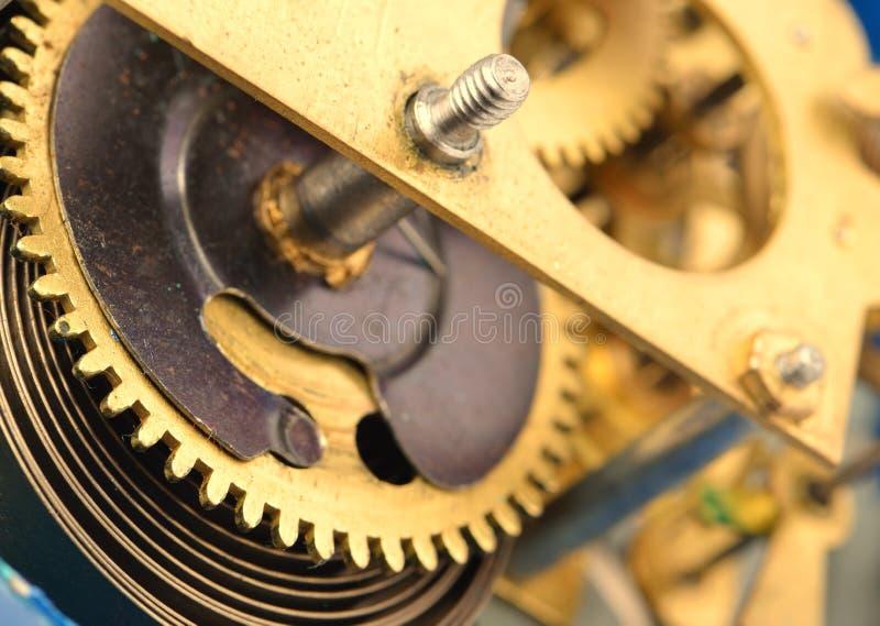 Mécanisme la vieille horloge d'alarme photographie stock