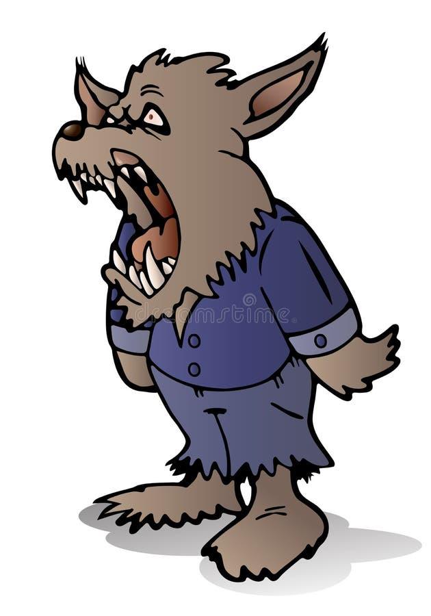 Méchant étaient le loup illustration stock