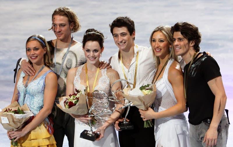 Médaillés dans la danse de glace photo libre de droits