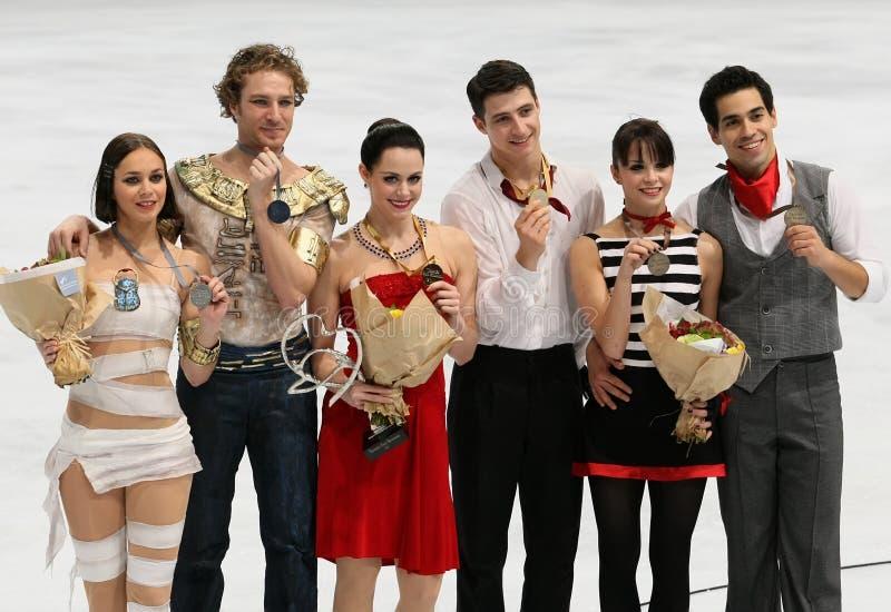 Médaillés dans la danse de glace photos libres de droits