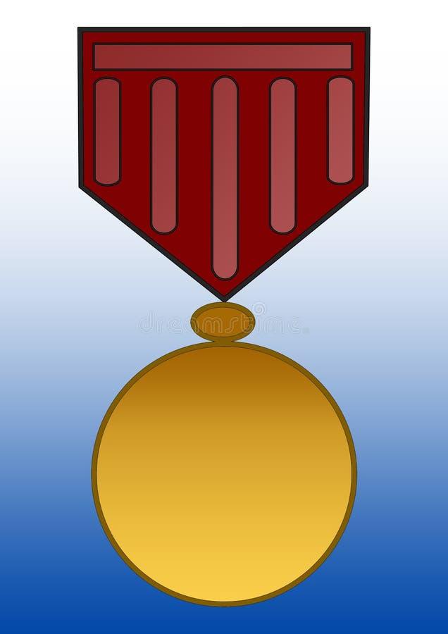 Médaille illustration de vecteur