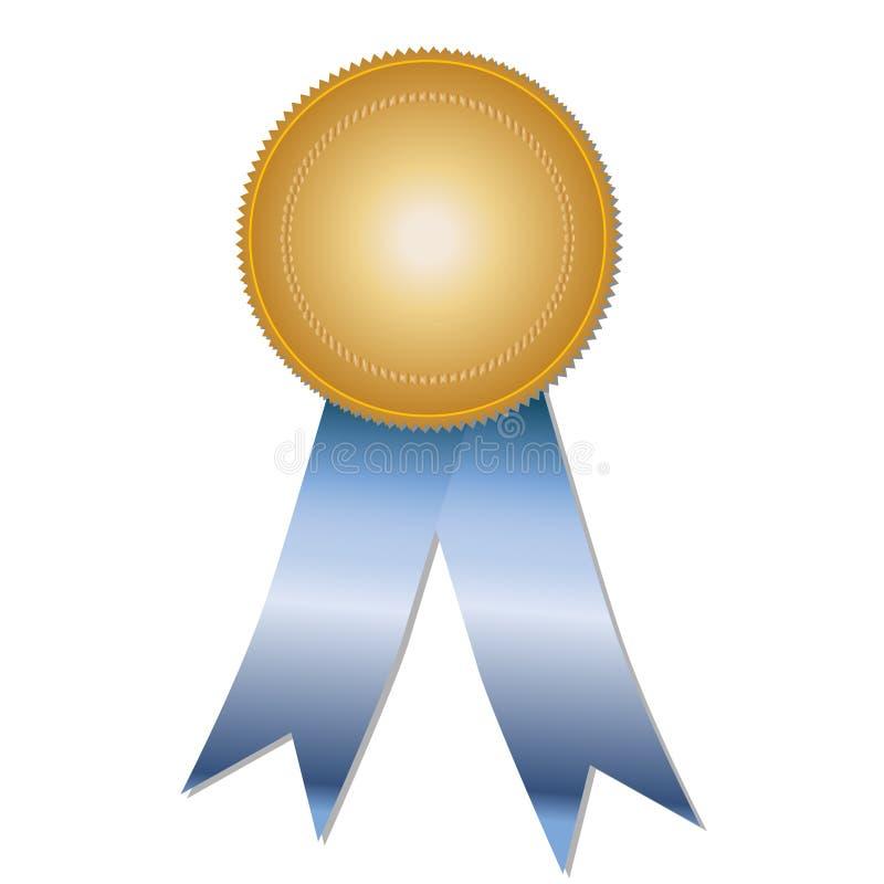 Médaille avec des bandes (vecteur) illustration de vecteur