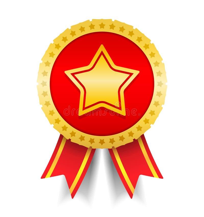 Médaille avec l'étoile illustration de vecteur