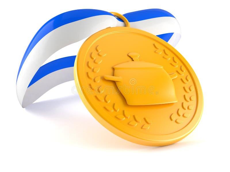 Médaille culinaire illustration de vecteur