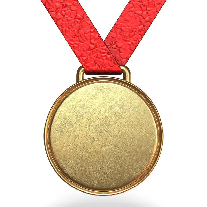 Médaille d'or 3D illustration stock