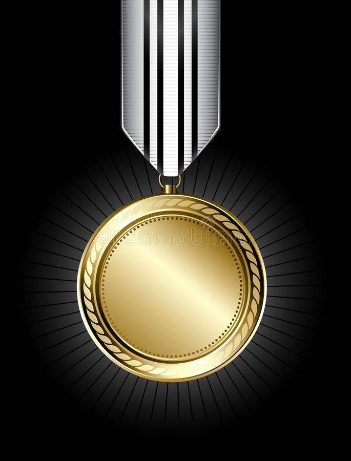 Médaille d'or illustration stock