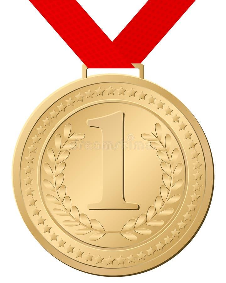 médaille d'or illustration de vecteur