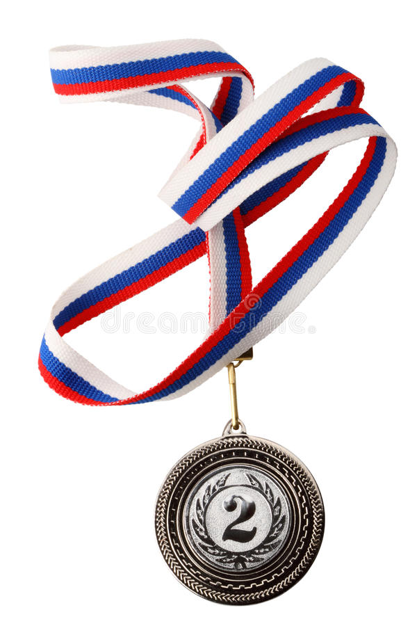 Médaille d'argent photos libres de droits