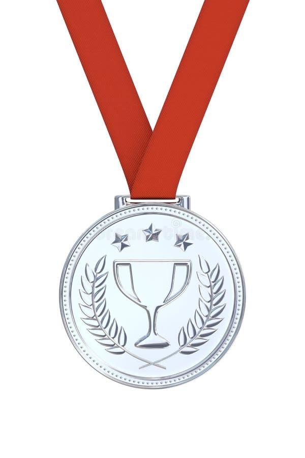 Médaille d'argent photographie stock libre de droits