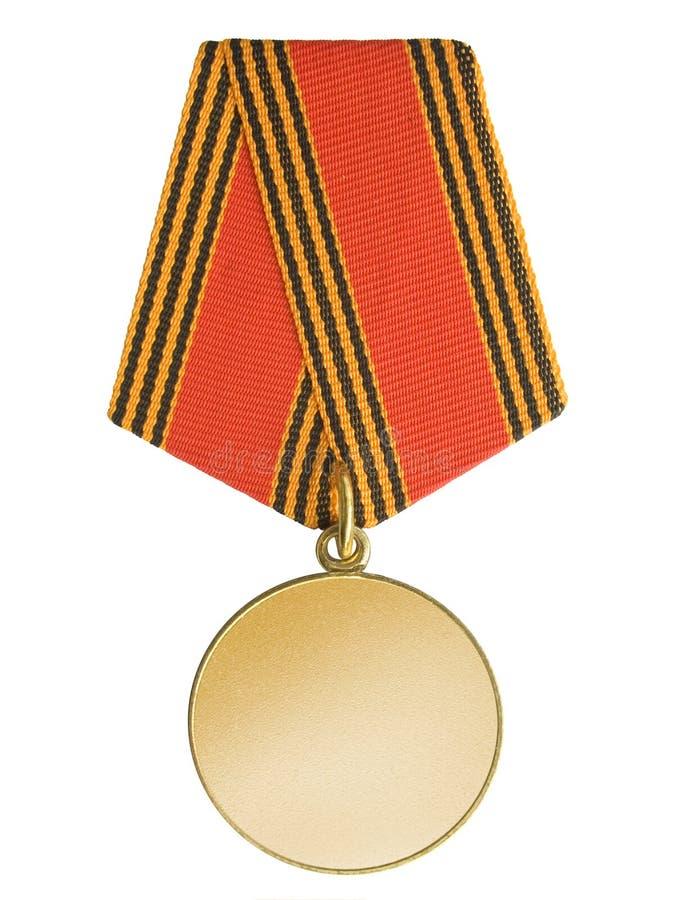 Médaille d'or blanc photos libres de droits