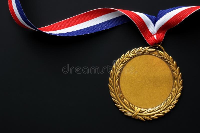 Médaille d'or olympique image libre de droits