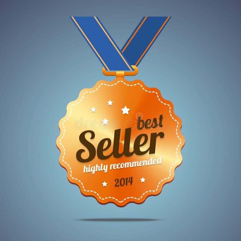 Médaille de récompense du best-seller illustration de vecteur