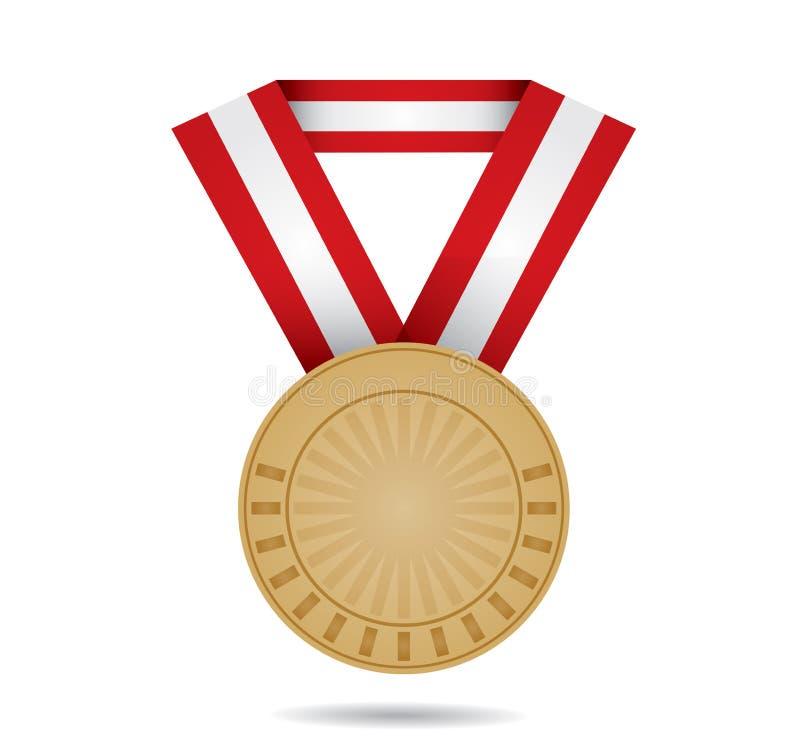 Médaille En Bronze De Sport Photos libres de droits