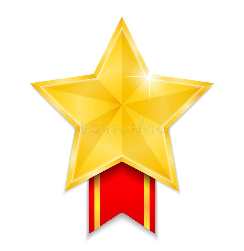 Médaille en forme d'étoile illustration libre de droits