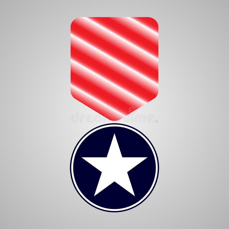 Médaille militaire Jour de vétérans illustration de vecteur