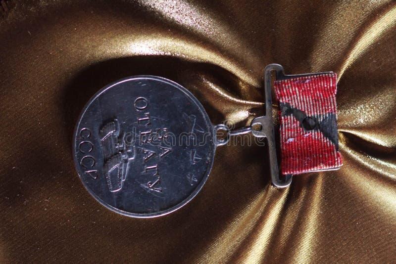 Médaille pour la bravoure et l'honneur d'ordre de la guerre mondiale URSS image libre de droits
