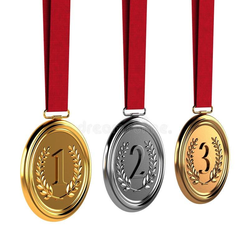 médailles illustration de vecteur