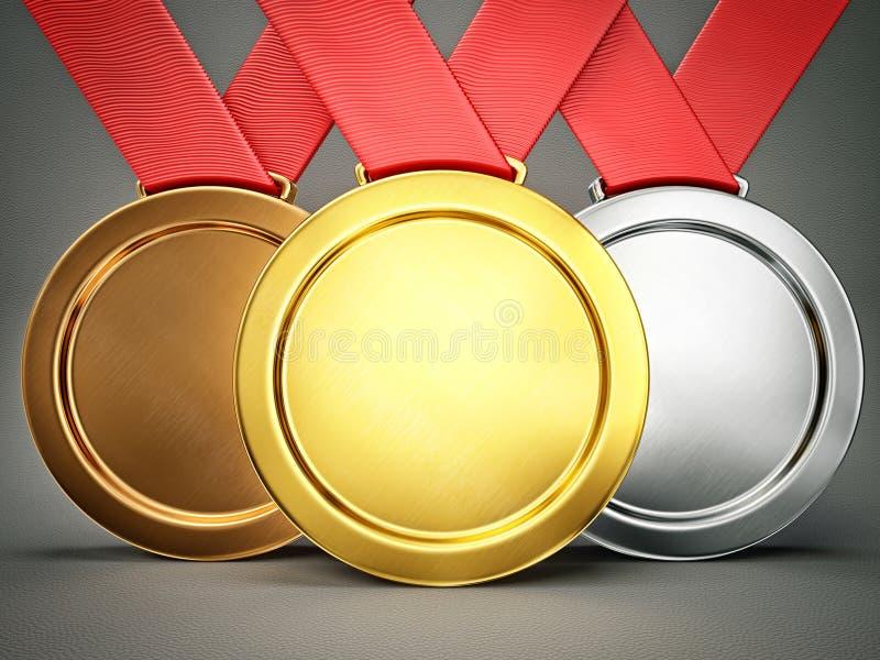 médailles illustration libre de droits