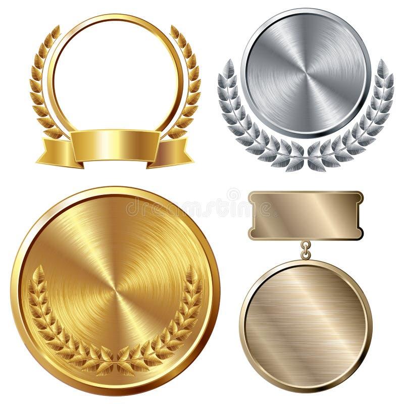 médailles illustration stock