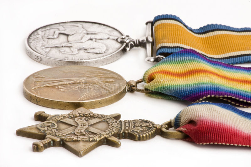 Médailles britanniques de guerre image stock