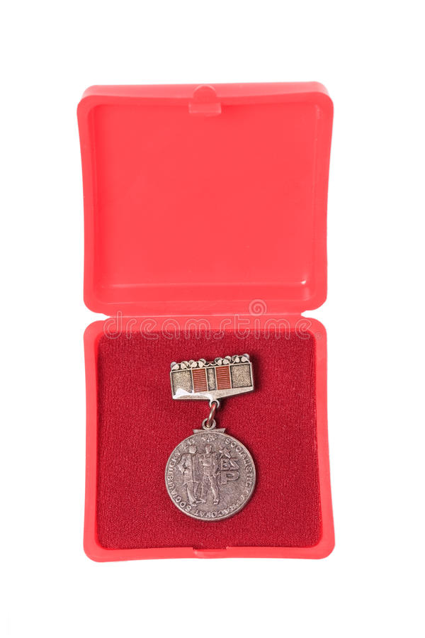 Médailles communistes photographie stock libre de droits