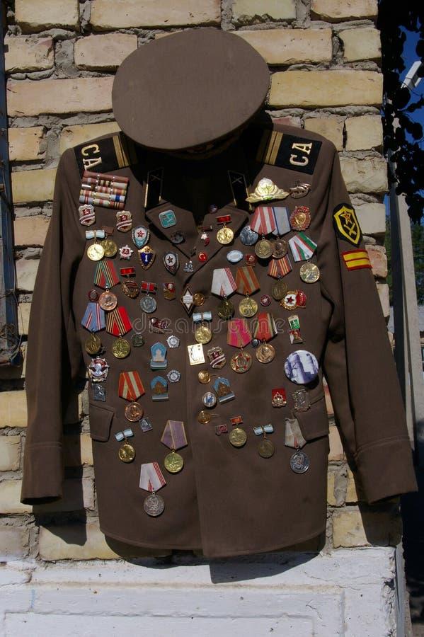 Médailles communistes photo libre de droits