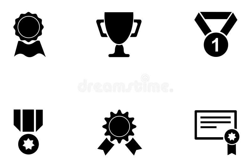 Download Médailles Et Icônes De Tasse Illustration de Vecteur - Illustration du honneur, étiquette: 56476411