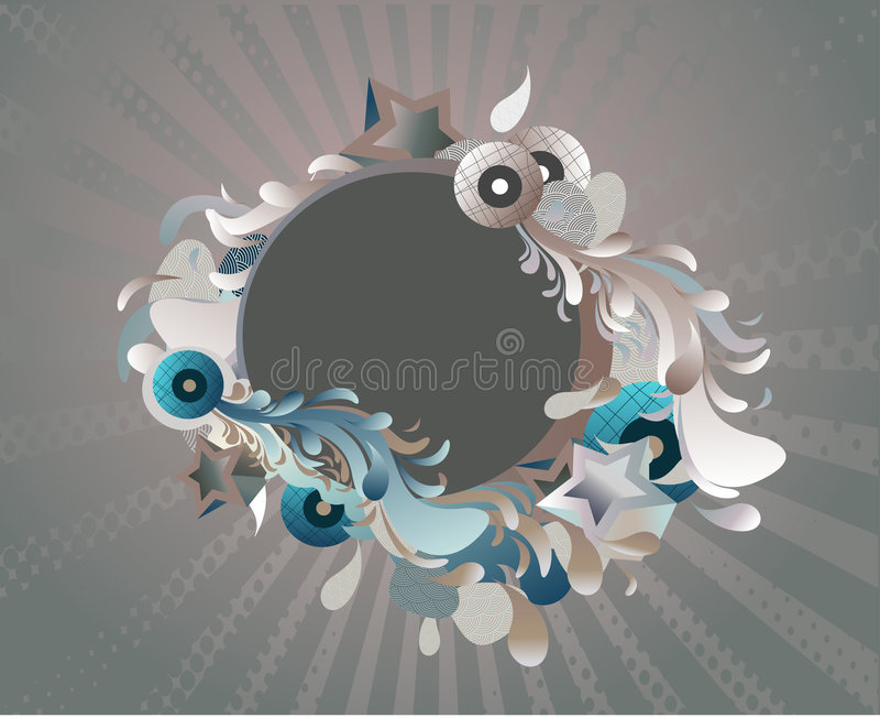 médaillon abstrait illustration stock
