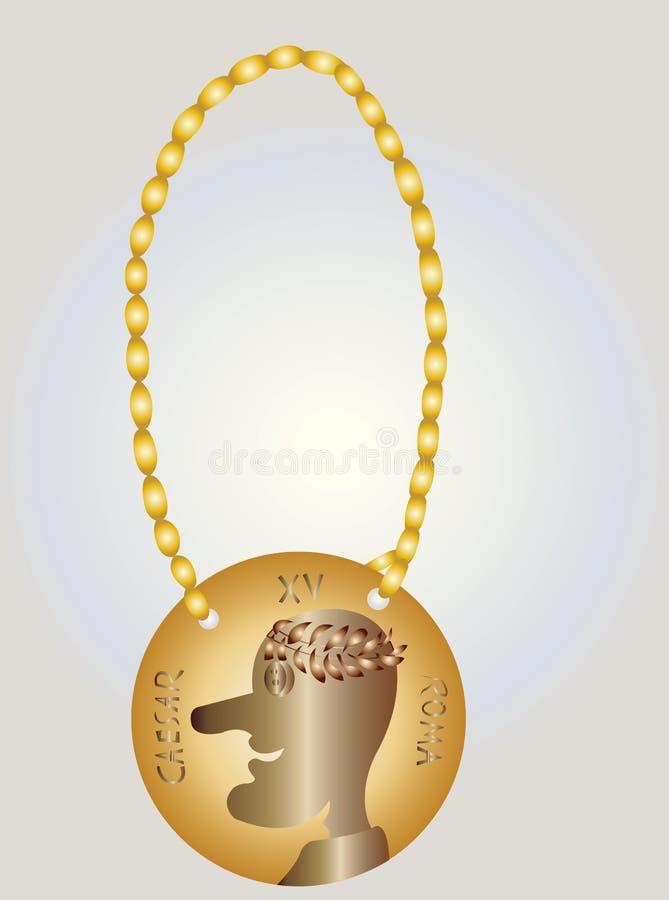 Médaillon de César illustration de vecteur