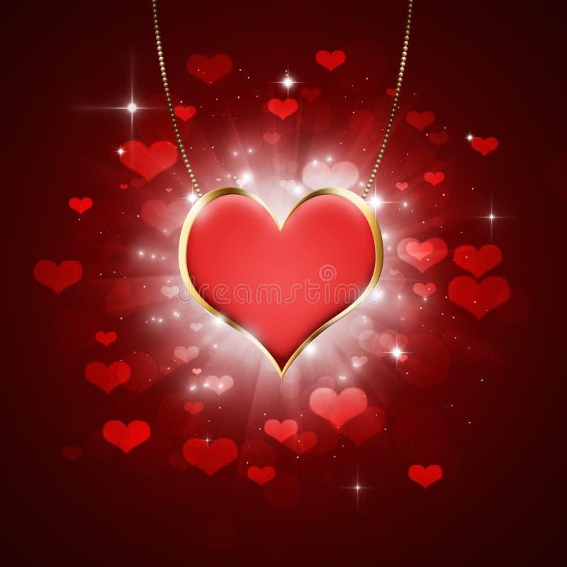 Médaillon de coeur illustration stock