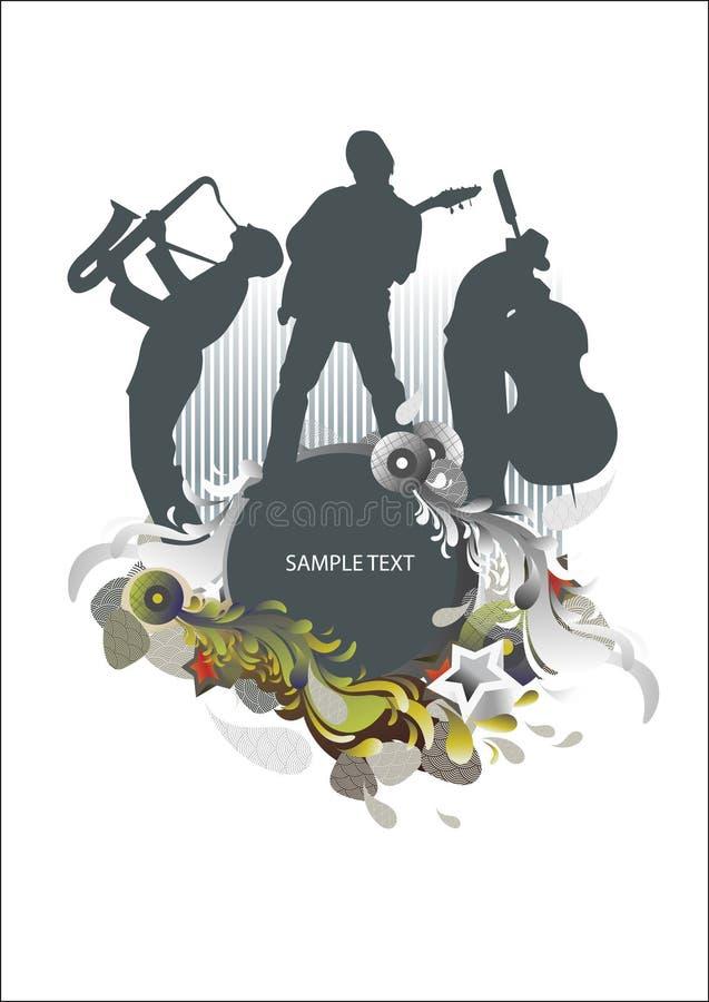 Médaillon de concert de musique illustration libre de droits