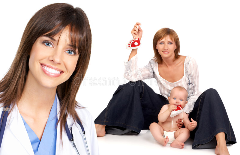 Médecin de famille photo stock