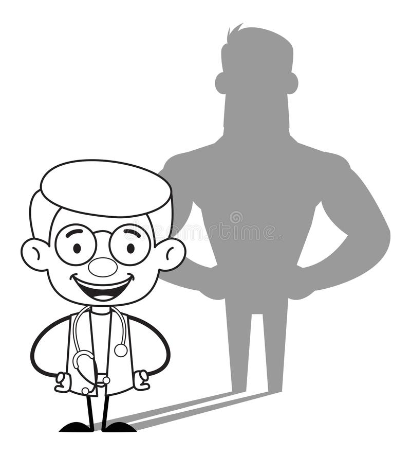 Médecin gynécologue - Attitude positive illustration stock