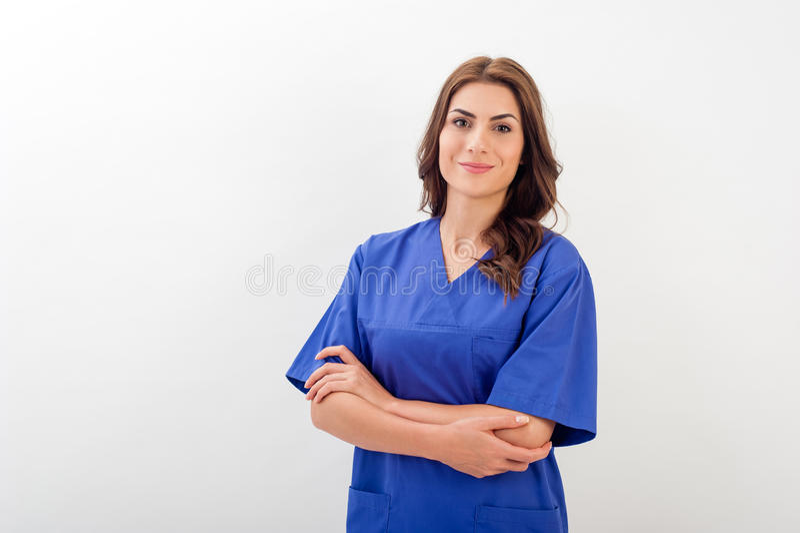 Médecin/infirmière féminins image stock